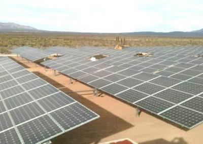 Planta Fotovoltaica con eje seguidor, México. 1Mw.