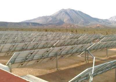 Planta Fotovoltaica con eje seguidor, México. 1 Mw.